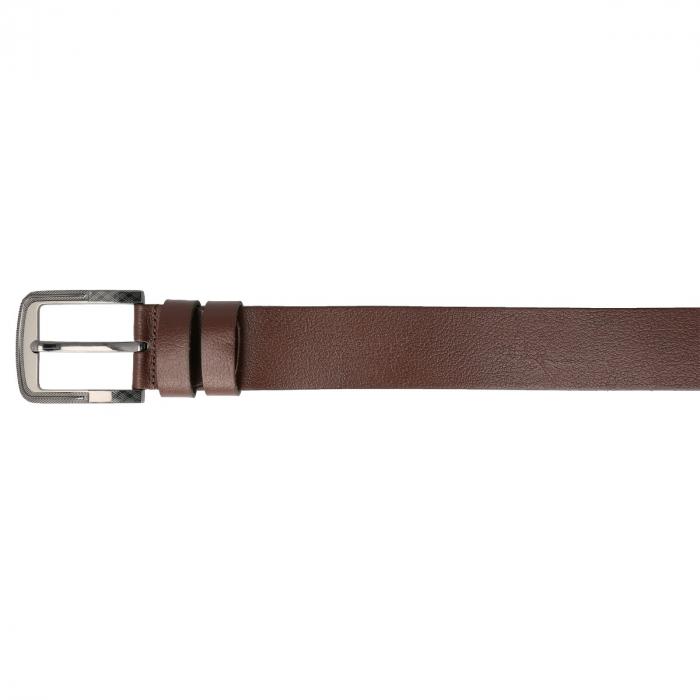 Curea lata pentru blugi si pantaloni casual, din piele moale maro, 7140 marca Eminsa [2]