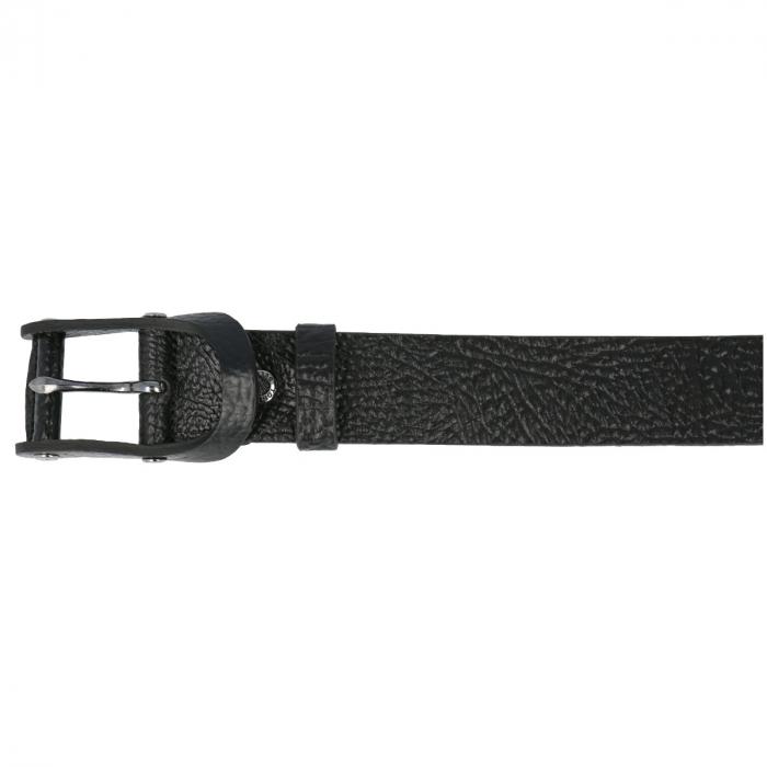 Curea pentru blugi, neagra din piele naturala, Tony Bellucci model 71000 [2]