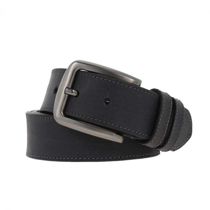Curea pentru blugi si pantaloni casual, gri antracit din piele nubuck, Tony Bellucci model 73007 [0]