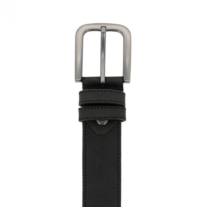 Curea pentru blugi si pantaloni casual, neagra din piele nubuck, Tony Bellucci model 73000 [1]