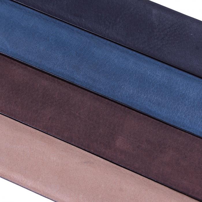 Curea The Chesterfild Brand, din piele nubuck maro, pentru pantaloni casual, Levi [4]