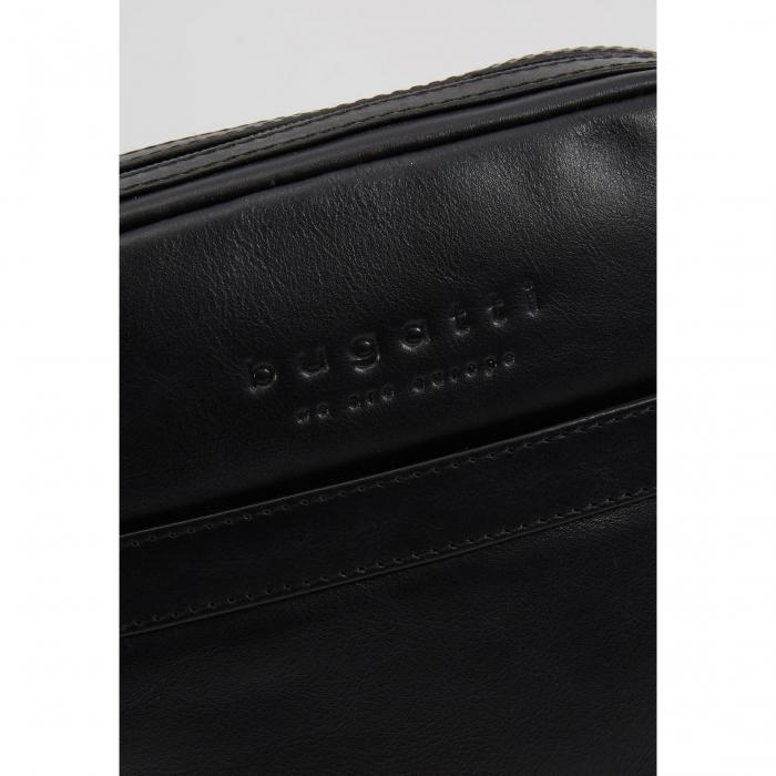 Geanta barbati Bugatti Corso, din piele naturala neagra [6]