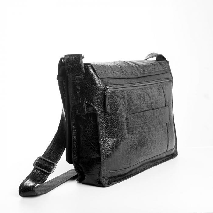 Geanta barbati Tony Bellucci pentru laptop si tableta, din piele naturala neagra T5057 [3]