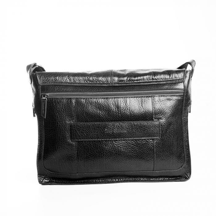 Geanta barbati Tony Bellucci pentru laptop si tableta, din piele naturala neagra T5057 [4]