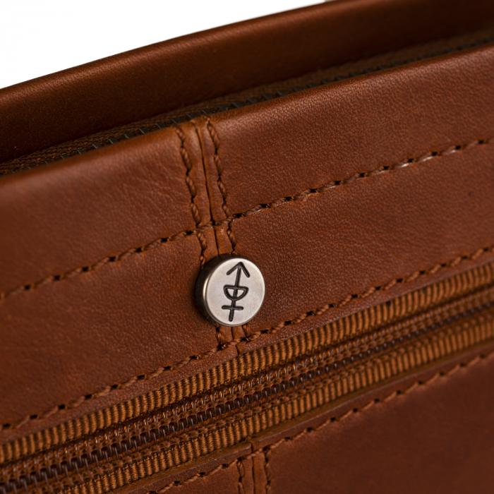 Geanta borseta barbati, The Chesterfield Brand, din piele naturala, de mana si umar, Evelyn Maro coniac [2]