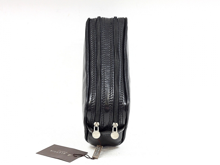 Geanta cosmetice din piele vacheta neagra, pentru barbati S4401 [1]