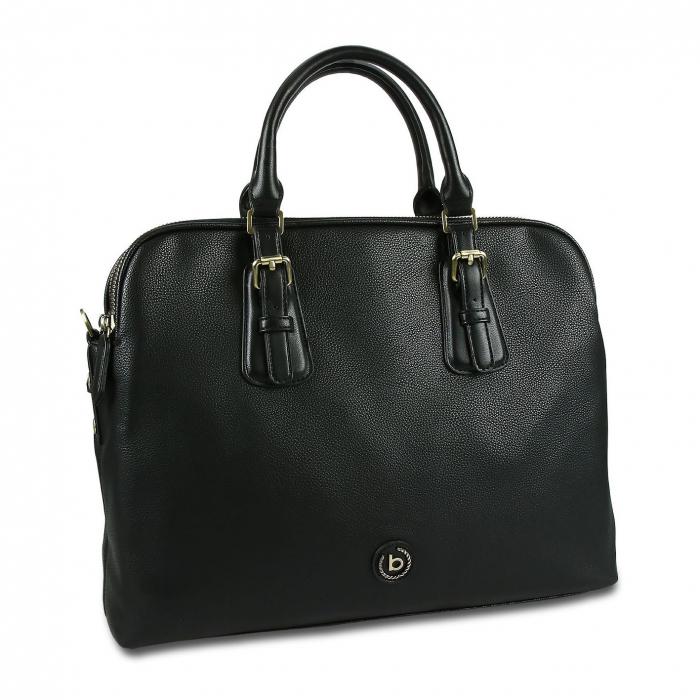 Geanta dama business Bugatti Passione negru 0