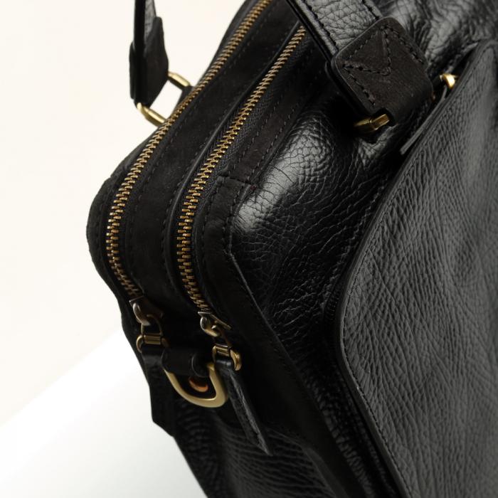 Geanta de acte din piele naturala neagra Tony Bellucci model T5059 [5]