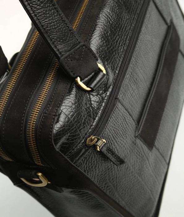 Geanta de acte din piele naturala neagra Tony Bellucci model T5059 [3]
