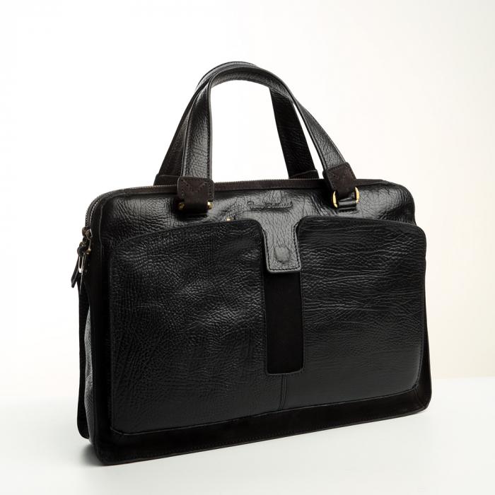 Geanta de acte din piele naturala neagra Tony Bellucci model T5059 [0]