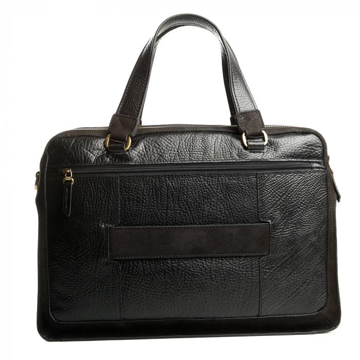 Geanta de acte din piele naturala neagra Tony Bellucci model T5059 [4]