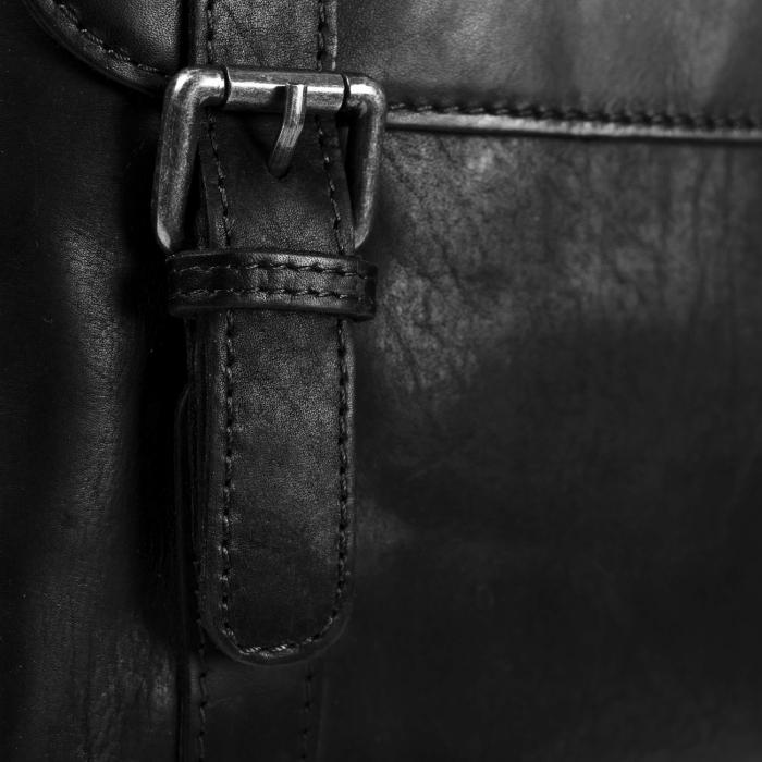 Geanta de barbati din piele naturala, The Chesterfield Brand, Eli, Negru [3]