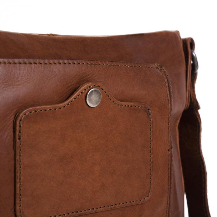 Geanta de barbati The Chesterfield Brand, din piele moale, Bodin, Maro coniac [2]