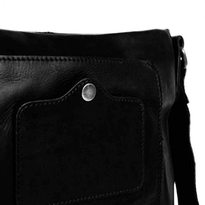 Geanta de barbati The Chesterfield Brand, din piele moale, Bodin, Negru [2]