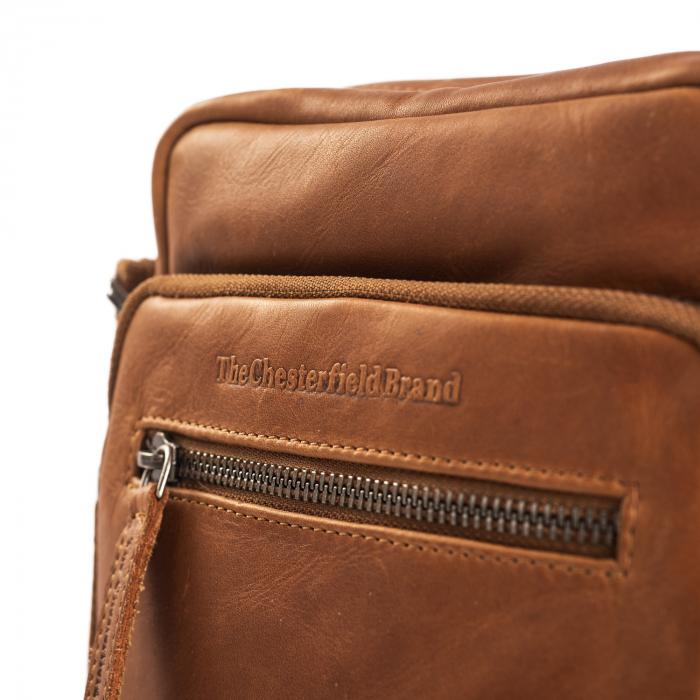 Geanta de barbati The Chesterfield Brand, din piele veritabila, Birmingham, Maro coniac [4]