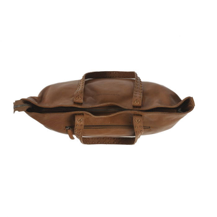 Geanta shopper de dama din piele naturala, The Chesterfield Brand, Kansas, Maro coniac [4]