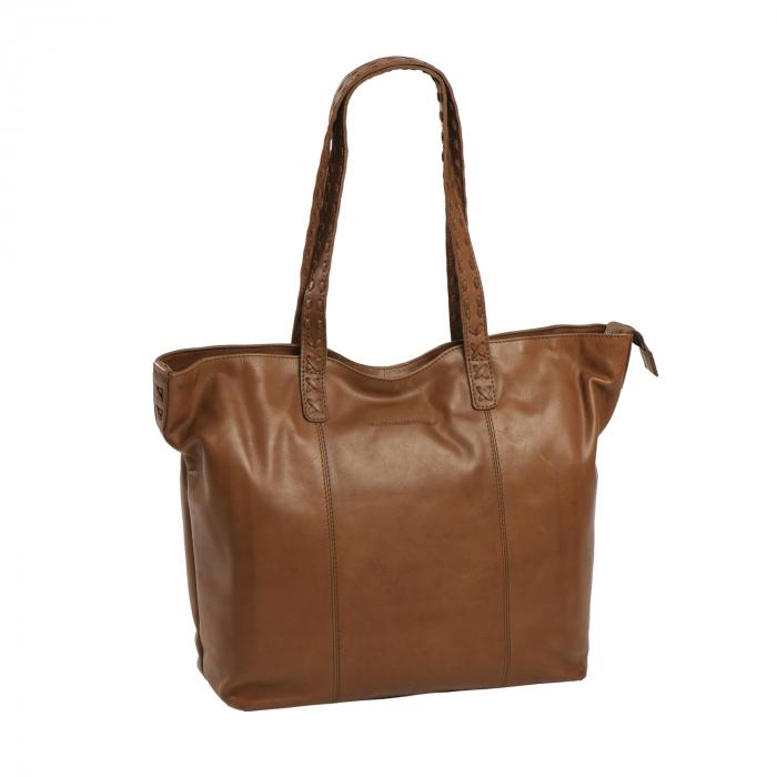 Geanta shopper de dama din piele naturala, The Chesterfield Brand, Kansas, Maro coniac [0]