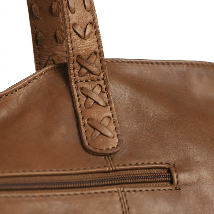 Geanta shopper de dama din piele naturala, The Chesterfield Brand, Kansas, Maro coniac [3]