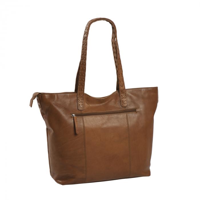 Geanta shopper de dama din piele naturala, The Chesterfield Brand, Kansas, Maro coniac [2]