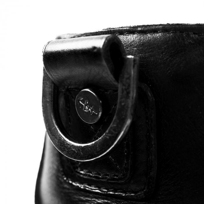 Geanta de dama din piele naturala, The Chesterfield Brand, Rebecca, de mana si umar, Negru [2]