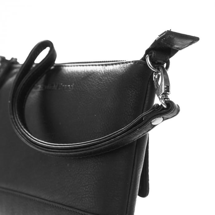 Geanta de dama din piele naturala, The Chesterfield Brand, Sue, de mana si umar, Negru [3]
