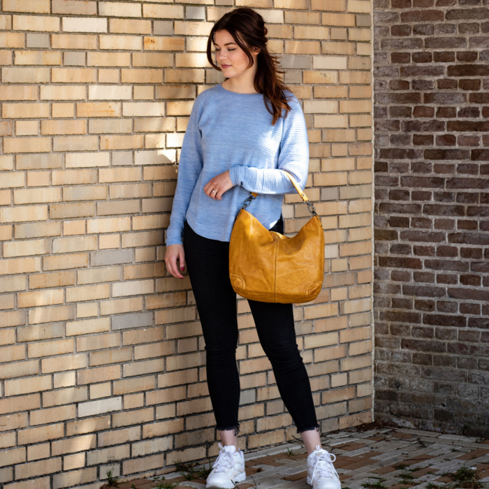Geanta de dama piele naturala, The Chesterfield Brand, Abby, Galben ocru [1]