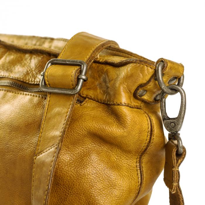 Geanta de dama piele naturala, The Chesterfield Brand, Abby, Galben ocru [4]