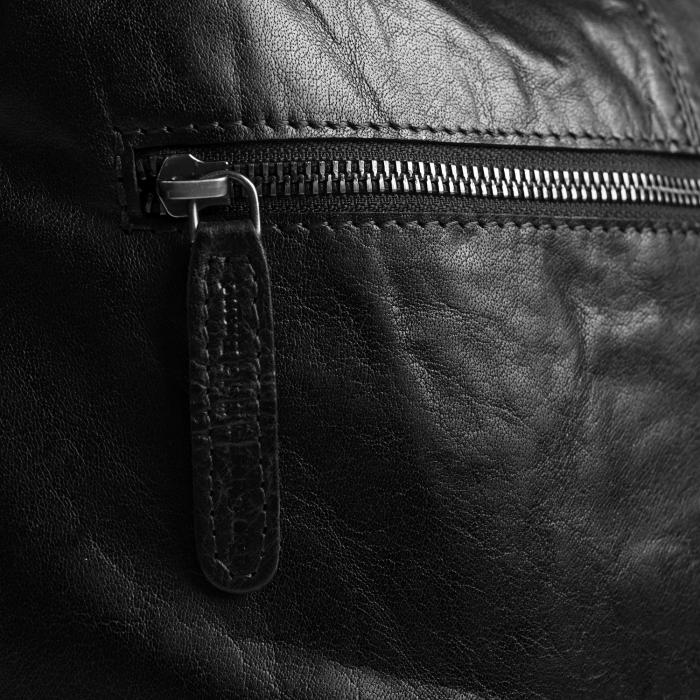 Geanta de dama, The Chesterfield Brand, piele naturala, de mana si umar, Darwin, Negru [3]