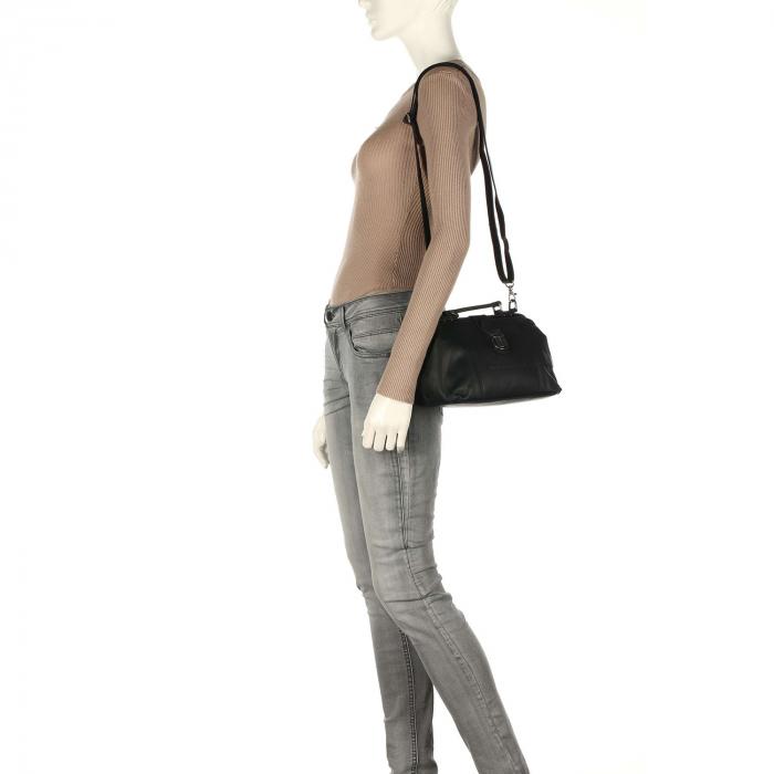 Geanta de dama, The Chesterfield Brand, din piele naturala, de mana si umar Rachael, Negru [1]