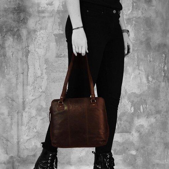 Geanta de dama, The Chesterfield Brand, piele naturala de umar Elly, Negru [1]