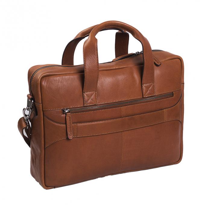 Geanta de laptop din piele naturala, The Chesterfield Brand, Ethan 15.6 inch, Maro coniac [5]