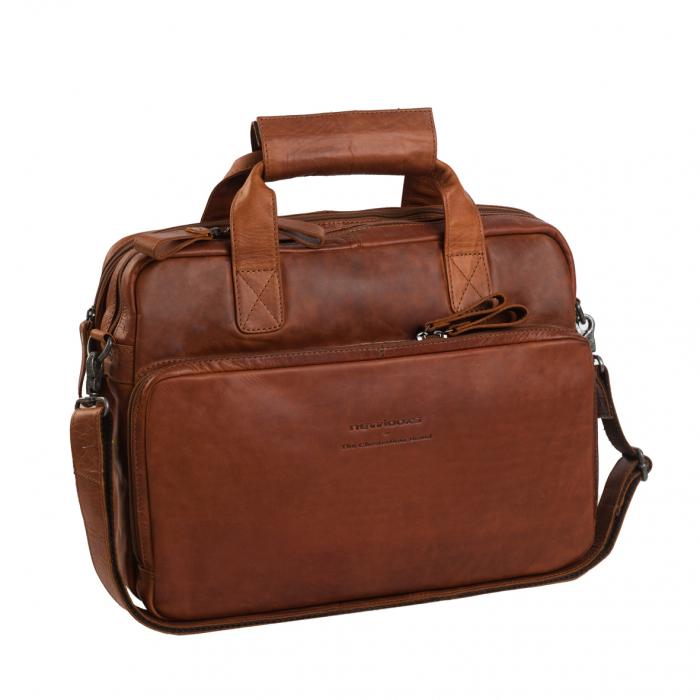 Geanta de laptop din piele naturala, The Chesterfield Brand, Geneva 15.6 inch, Maro coniac [0]