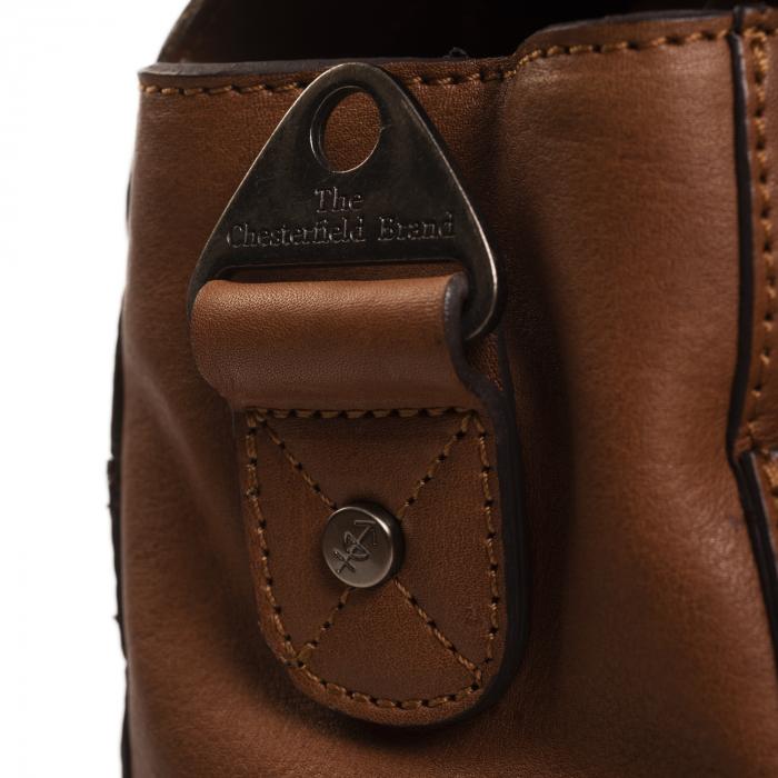 Geanta de laptop din piele naturala, The Chesterfield Brand, Iowa 15.6 inch, Maro coniac [4]