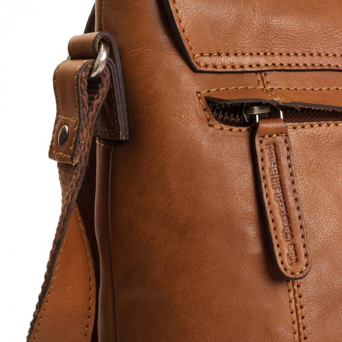 Geanta de laptop din piele naturala, The Chesterfield Brand, Marley 15.6 inch, Maro coniac [3]