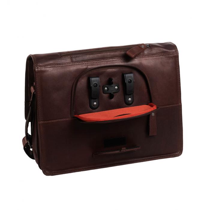 Geanta de laptop din piele naturala, The Chesterfield Brand, Gent 15.6 inch, Maro inchis [5]