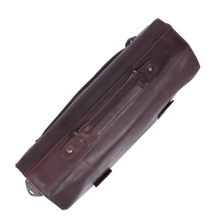 Geanta de laptop din piele naturala maro inchis, The Chesterfield Brand, Mario 15 inch [4]