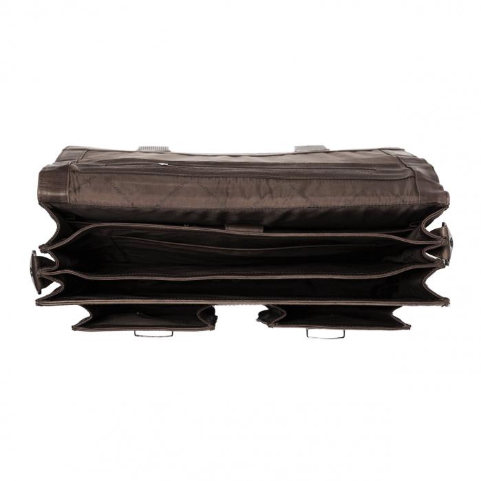 Geanta de laptop din piele naturala maro inchis, The Chesterfield Brand, Mario 15 inch [2]