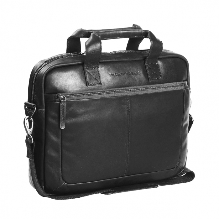 Geanta de laptop din piele naturala, The Chesterfield Brand, Calvi 15.6 inch, Negru [0]