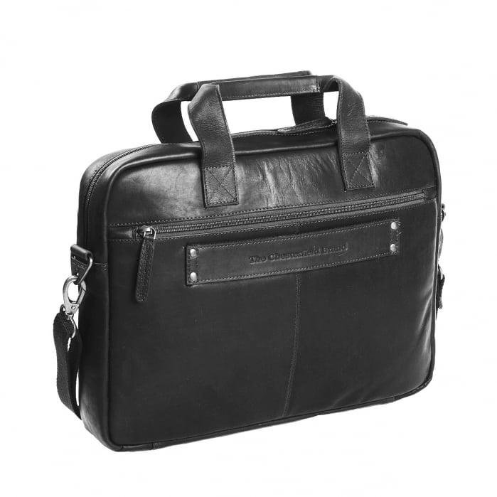 Geanta de laptop din piele naturala, The Chesterfield Brand, Calvi 15.6 inch, Negru [5]