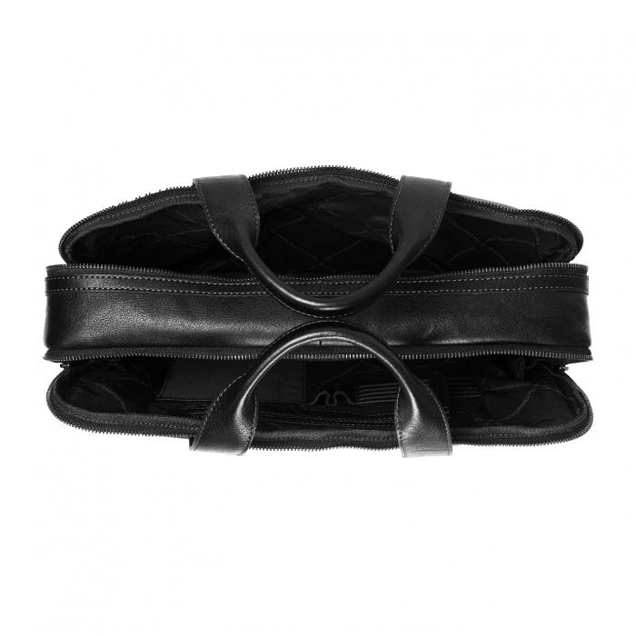 Geanta de laptop din piele naturala, The Chesterfield Brand, Duke 15.6 inch, Negru [1]