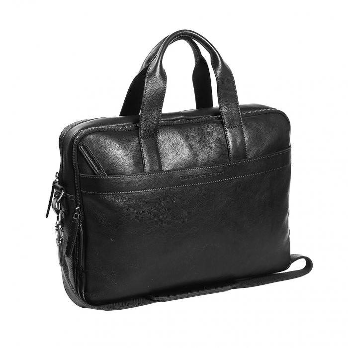Geanta de laptop din piele naturala, The Chesterfield Brand, Duke 15.6 inch, Negru [0]