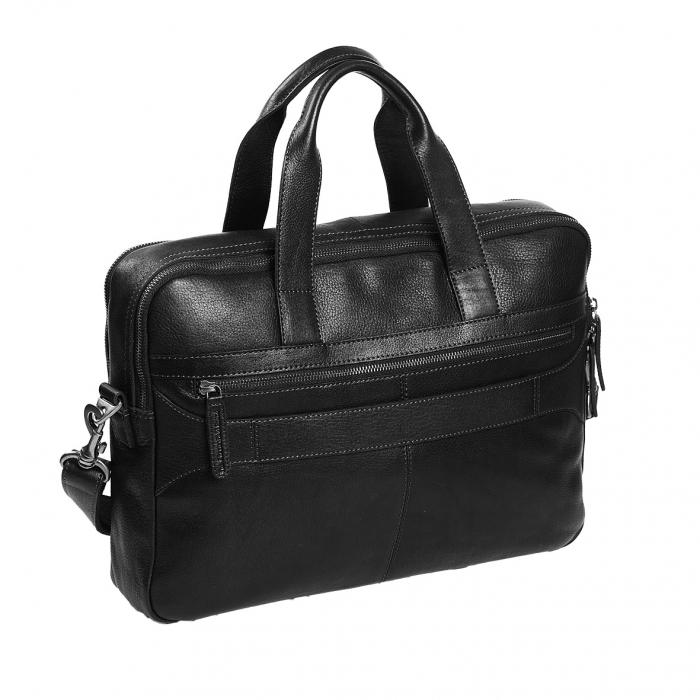 Geanta de laptop din piele naturala, The Chesterfield Brand, Duke 15.6 inch, Negru [4]