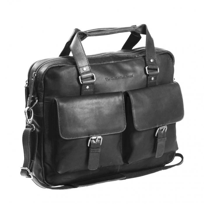 Geanta de laptop din piele naturala, The Chesterfield Brand, George 15 inch, Negru [0]