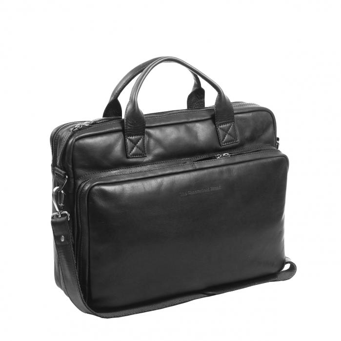 Geanta de laptop din piele naturala, The Chesterfield Brand, Jackson 15.6 inch, Negru [0]