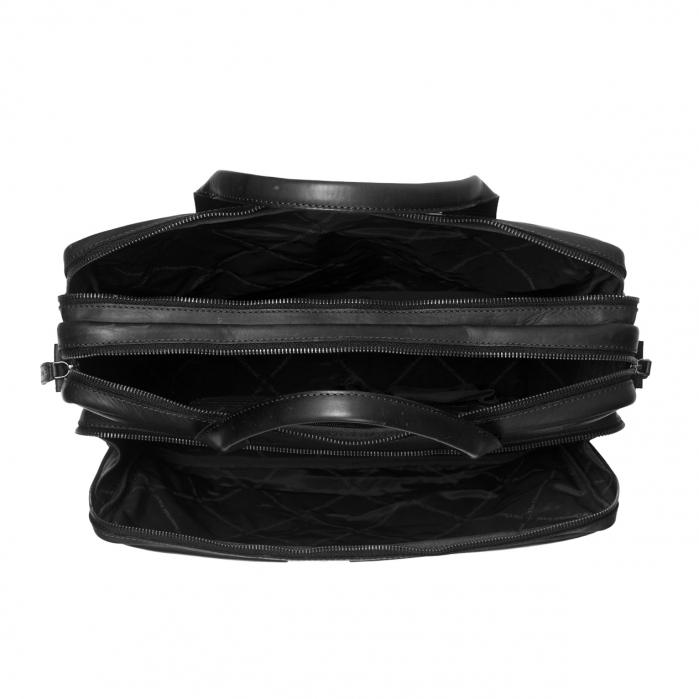 Geanta de laptop din piele naturala, The Chesterfield Brand, Jackson 15.6 inch, Negru [2]