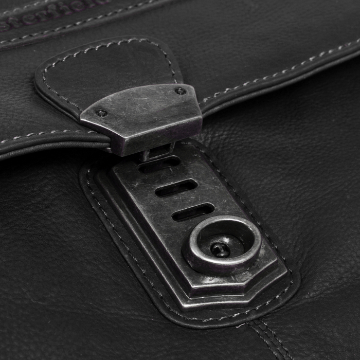 Geanta de laptop din piele naturala, The Chesterfield Brand, Matthew 15.6 inch, Negru [5]