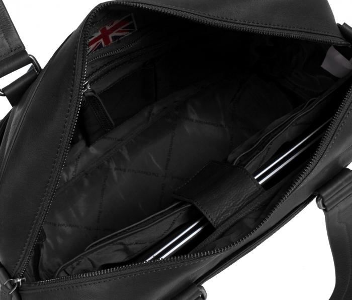 Geanta de laptop din piele naturala, The Chesterfield Brand, Samual 15 inch, Negru [1]