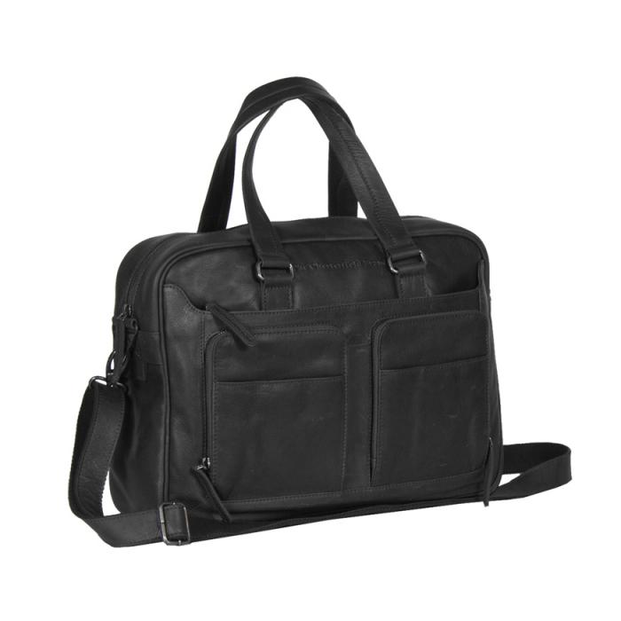 Geanta de laptop din piele naturala, The Chesterfield Brand, Samual 15 inch, Negru [0]