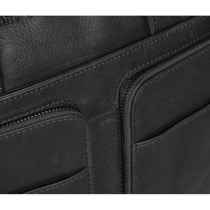 Geanta de laptop din piele naturala, The Chesterfield Brand, Samual 15 inch, Negru [3]