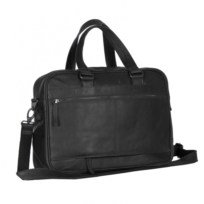 Geanta de laptop din piele naturala, The Chesterfield Brand, Samual 15 inch, Negru [4]
